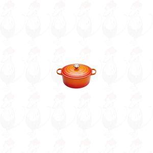 Le Creuset Ronde braad-/stoofpan 24 cm Oranje-Rood | 4,2 Liter