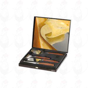 Giftbox schaaf, jonge schaaf, bijl en presenteermes De Luxe rozenhout