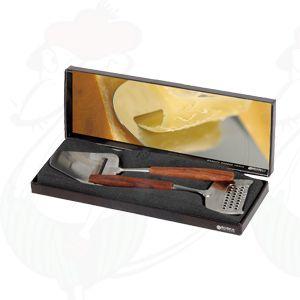 Giftbox schaaf en rasp De Luxe rozenhout