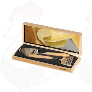 Giftbox 2 hout, schaaf en rasp De Luxe beukenhout