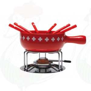 Kaasfondue set Swiss Cross 9 delig